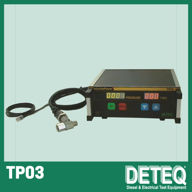 TP03 test instrument for detection of pressure peaks and leakage.