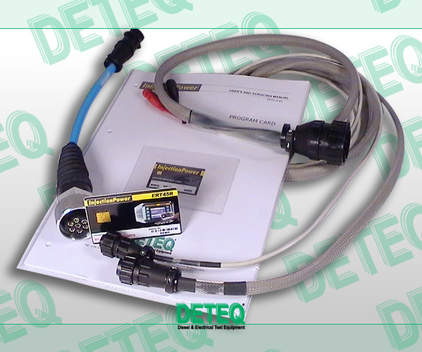 ERT45R programming kit for Bosch H, M, P, R in-line pumps.  The kit includes: - programming card that allows the ERT45R Simulator to actuate the necessary functions to test this type of pump - basic cable (2 mt. Length) - adapter cable 81.03.104 (similar to Bosch 0 986 610 104).  Extra adapter cables are available on request - illustrated step-by-step instructions and servicing manual - test data to calibrate the pumps which can be connected to the adapter cable 81.03.104
